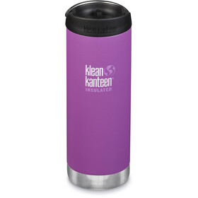 Klean Kanteen TKWide Gourde avec couvercle Cafe 473ml Isolant, berry bright matte